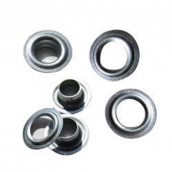 Кольца - люверсы  крепежные Ø 12мм оцинкованные, упаковка 100 шт.